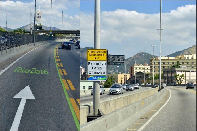 [리우올림픽] 올림픽 전용도로 개통