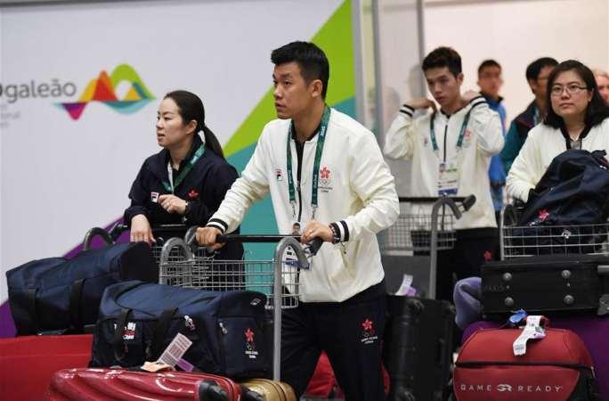 [리우올림픽]중국 홍콩 대표단 리우 도착