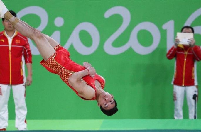 [리우 올림픽] 중국 체초 선수단 입장 훈련