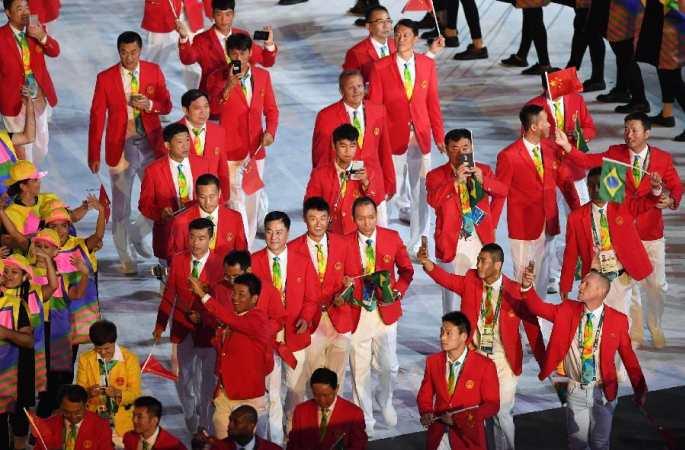 중국 올림픽 대표단 입장