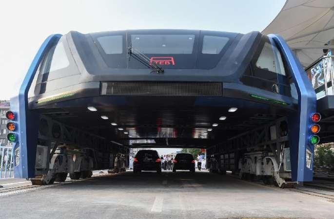 '공중 버스' 中 신개념 대중교통 TEB 시운행