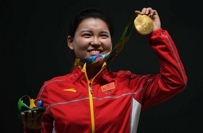 [올림픽] 中 장멍쉐 女 10m 공기권총서 금메달
