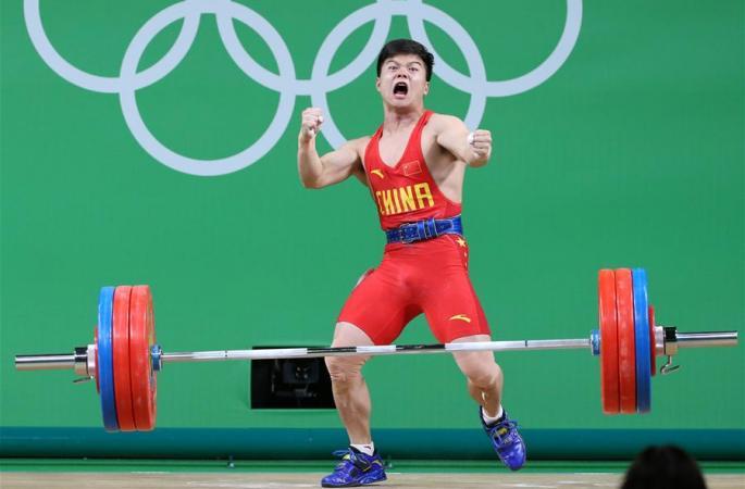 [리우올림픽] 룽칭취안, 남자 역도 56㎏급 금메달 획득
