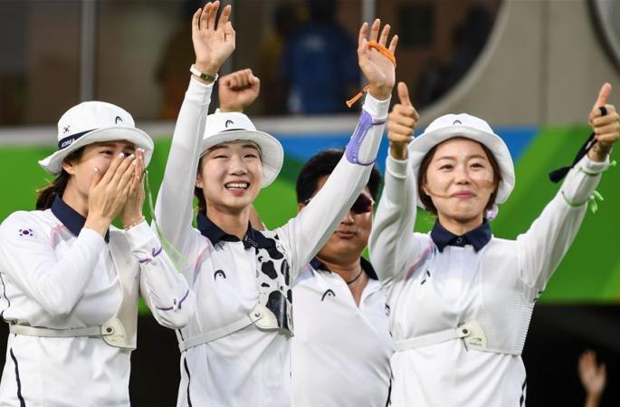 [리우올림픽] 한국 여자 양궁 단체전 금메달