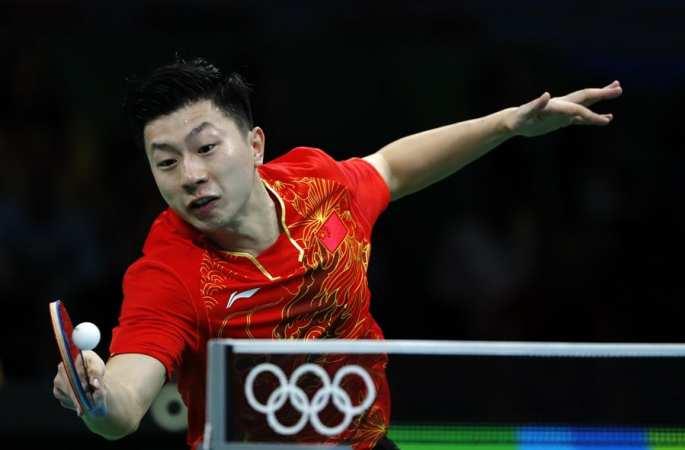 중국 탁구 선수 마룽, 4대0으로 상대를 꺾고 16강 진출