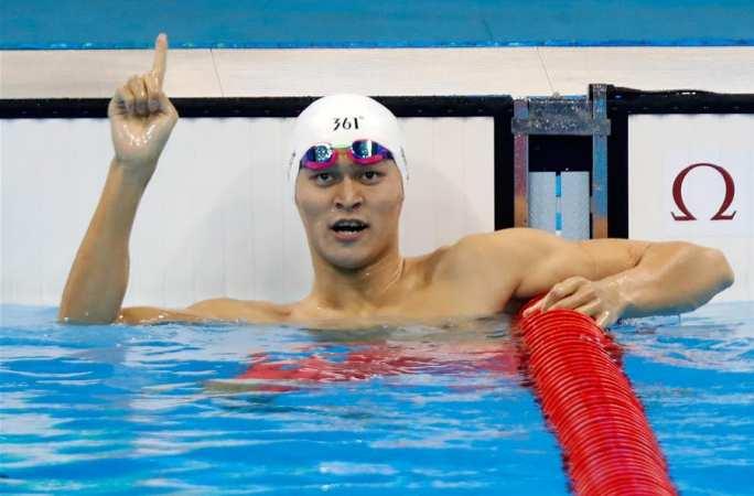 쑨양, 남자 자유형 200m 조 1위로 결승 진출