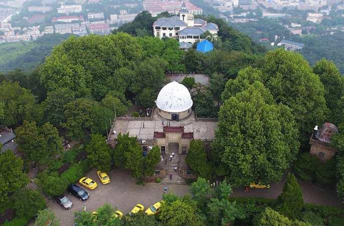 하늘에서 굽어본 중국과학원 난징 즈진산 천문대, '중국현대 천문학의 요람'