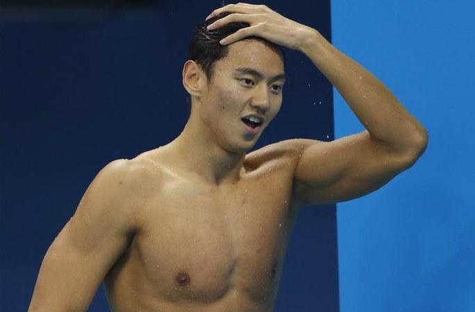 닝저타오, 남자 100m 자유형 결승 진출 실패