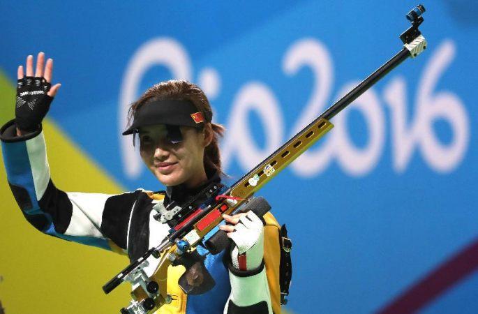 [리우 올림픽] 중국 선수 장빈빈 두리, 女 50m 소총 3자세서 銀,銅