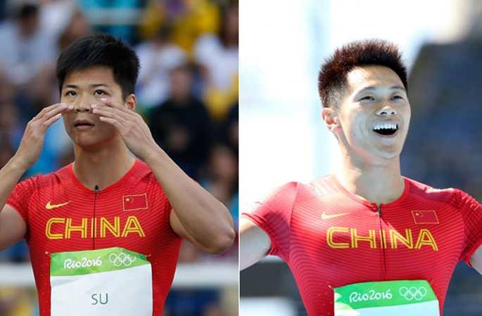 남자 100미터 예선, 수빙티엔, 시에전예 역사 기록으로 준결승전 진출