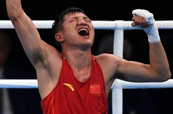 [리우올림픽] 복싱 남자 밴텀급 56kg 예선, 중국 선수 장지아웨이 우승