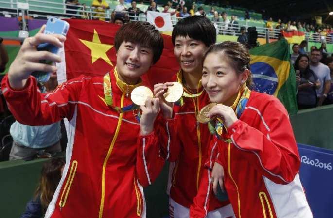 [리우올림픽] 중국, 탁구 여자단체 금메달