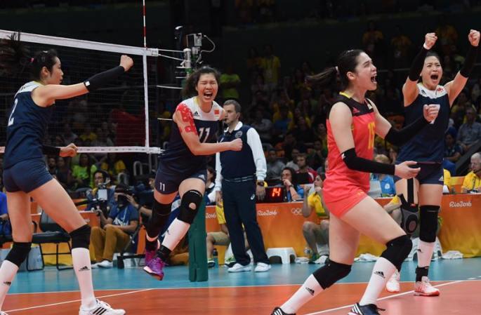 [리우올림픽] 중국팀, 여자배구 4강 진출