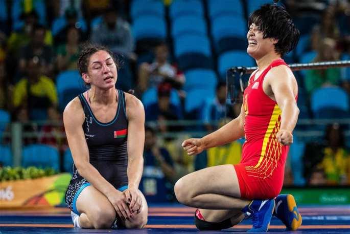 [리우올림픽] 레슬링 여자 자유형 75kg급, 中선수 동메달