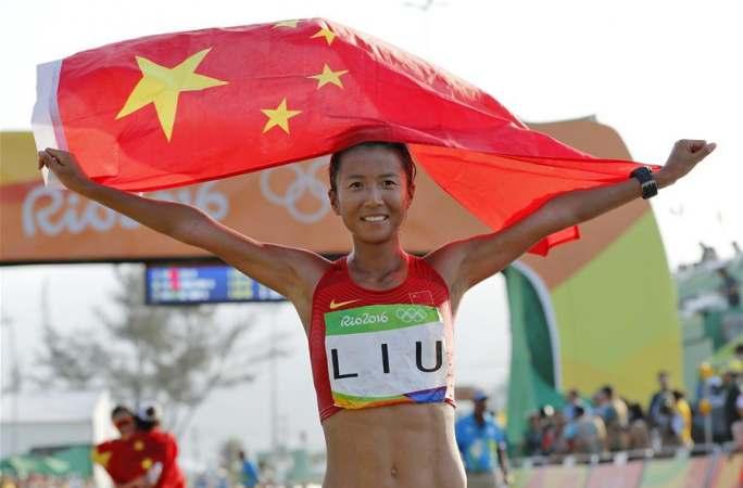 [리우올림픽] 경보 여자 20km, 中선수 류훙 금메달