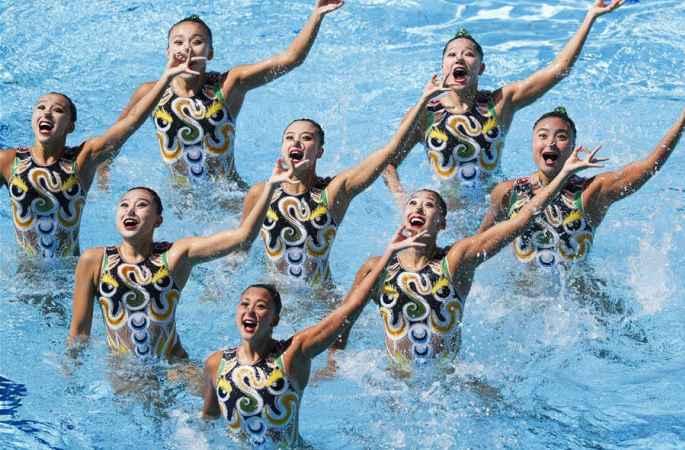 [리우올림픽] 中싱크로나이즈드 스위밍 여자 단체 프리 은메달