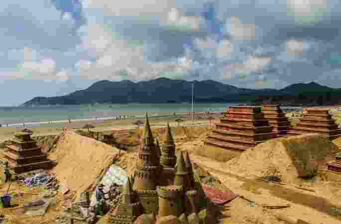 저장 국제 모래조각 전시회, '모래조각 G20'