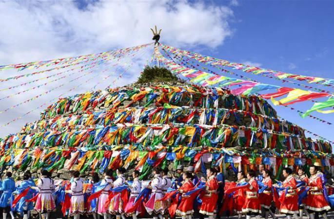 네이멍구 유목민들의 전통 행사, '지아오바오'