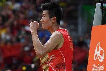 [리우올림픽] 中 천룽, 배드민턴 남자 단식 금메달