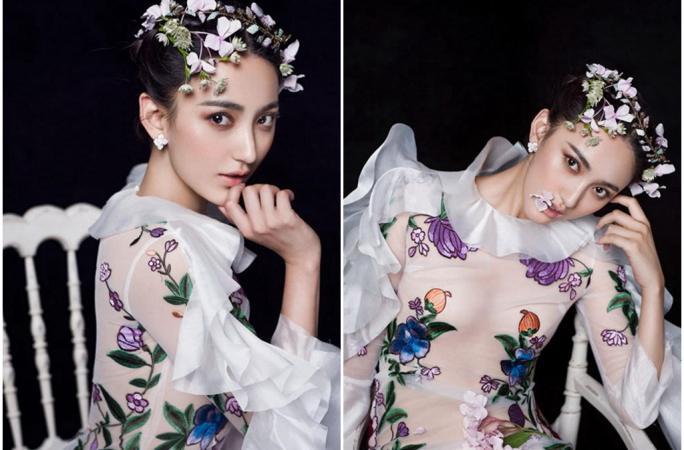 인기극 여주 아이샤오치, '매혹적 여신 자태'