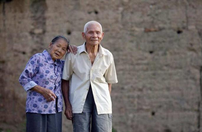 함께한 세월 96년, 광시 100세 노부부