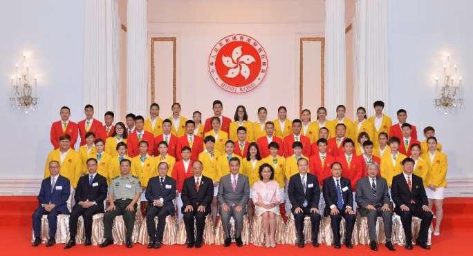 홍콩특별행정구, 리우 올림픽 내지 선수단의 방문 환영