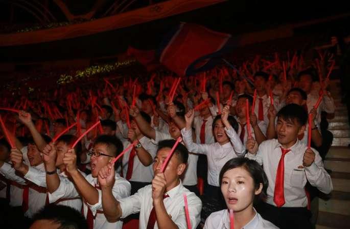 조선, 청년동맹 제9차 대회 개막을 경축