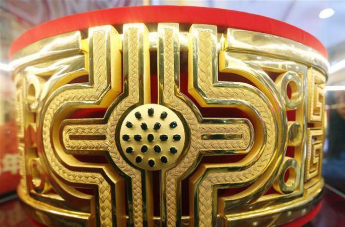 난징 거대 황금 반지, 무게 약 83kg 달해