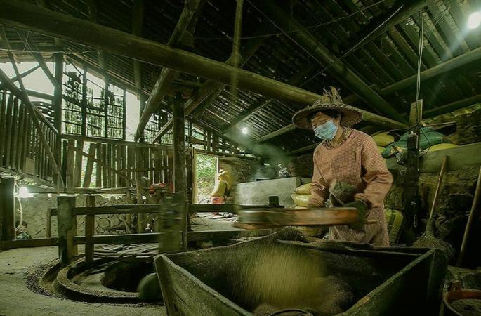 푸젠 민칭현 100년 기름집, 재래식 방식 고수