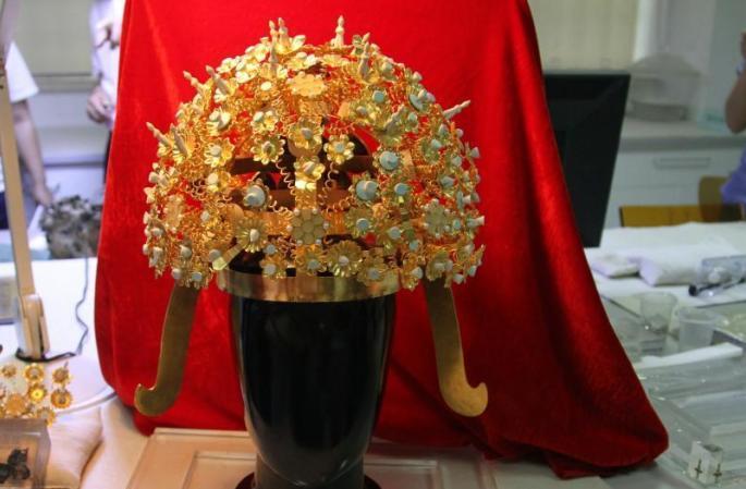 수양제 샤오 황후의 관(冠) 서안서 첫 모습 드러내