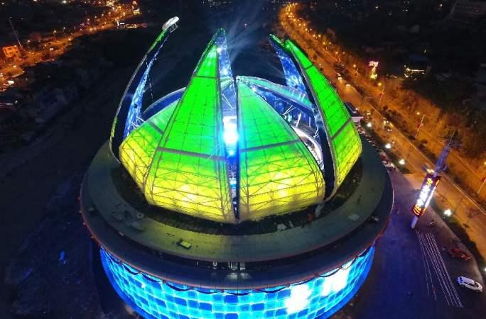 中 장자제 대형 국제관광문화바 준공...연꽃 모양 돔형 지붕 눈길 끌어