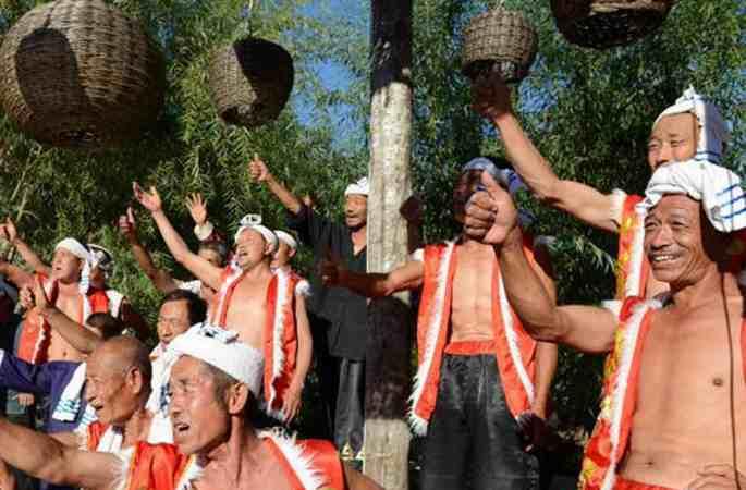 산베이 농민들이 펼친 황토고원 공연, 농경 문화 선보여