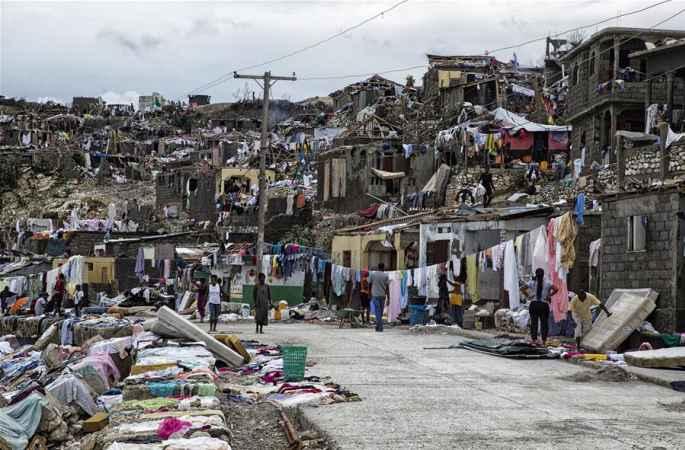 유엔기구, 허리케인으로 아이티 75만 이재민 긴급 지원 절박