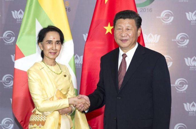 시진핑 주석, 아웅산 수치 미얀마 국가자문역 회견