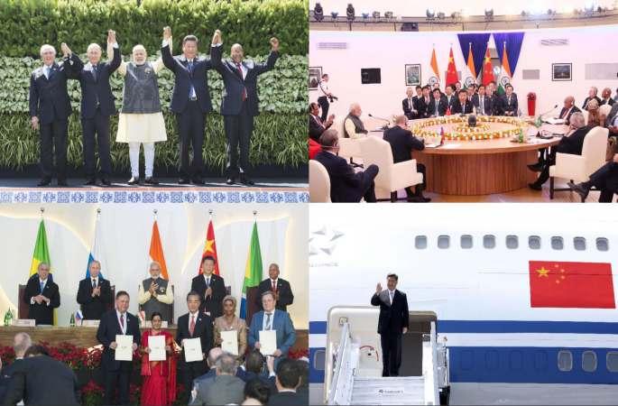 시진핑 주석, 제8차 브릭스 정상회의 참석 하이라이트 순간