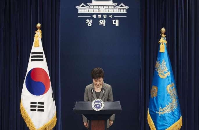 박근혜 韓 대통령, 국회 결정에 따라 조기 퇴진 의사 표명
