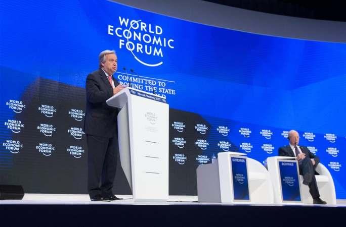 구테헤스 유엔 사무총장, 세계경제포럼 2017년 연차총회 참석