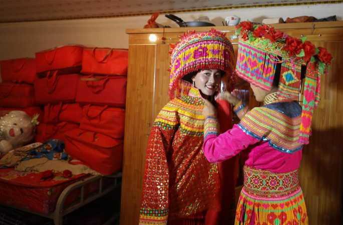 독특한 리수족 전통 혼례