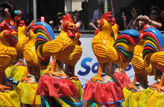 브라질, 헤시피 카니발 열어 중국 음력 닭해에 경의를