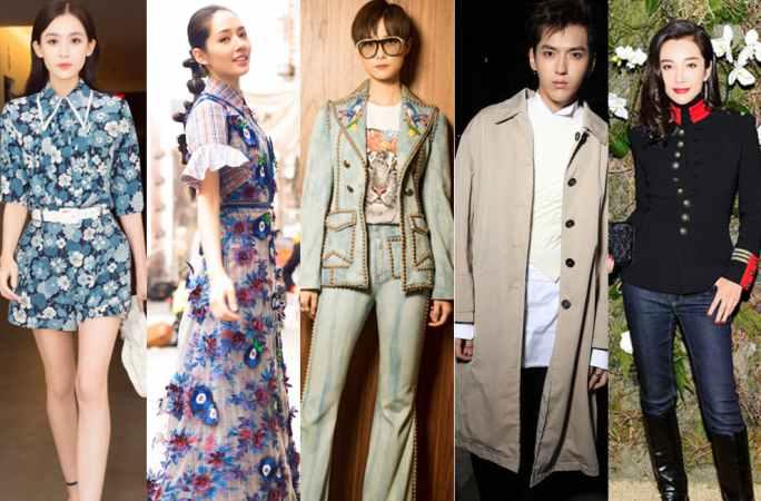 중국 스타 패션 위크에 선보여, 패션 룩 십인십색