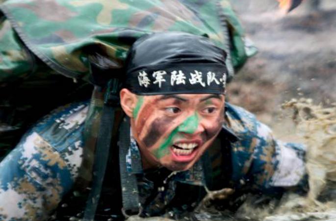 中해군해병대 패기 넘치는 명함 선보여