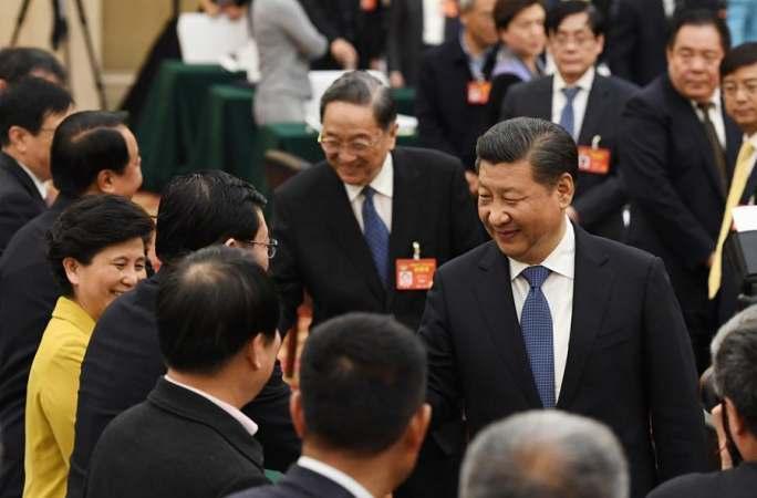 시진핑 주석, 정협 회의에 참가한 민진당·농공민주당·'9.3학사' 위원 위문