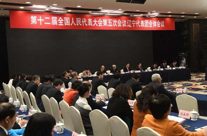 랴오닝 대표단 전체회의 매체에 개방