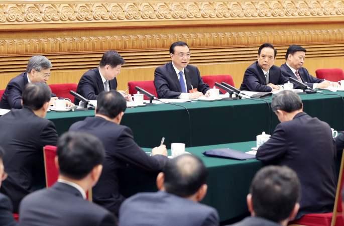리커창 中 총리, 산둥 대표단 심의에 참가