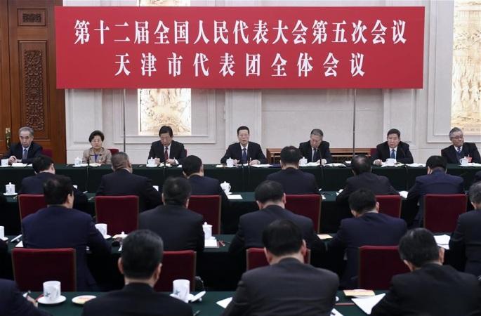 장가오리, 톈진 대표단 심의에 참가