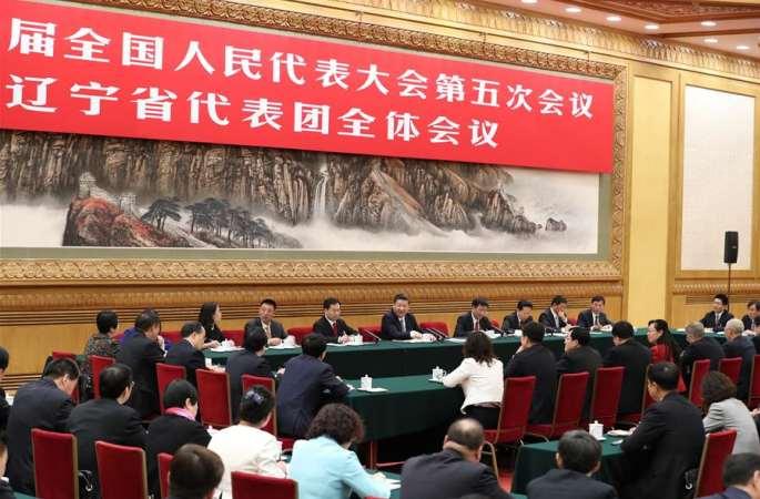 시진핑 주석, 랴오닝 대표단 심의에 참가