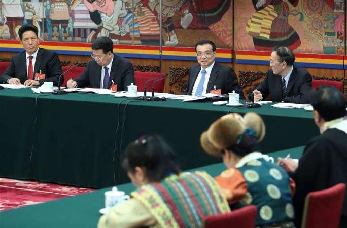 리커창 총리, 시짱 대표단 심의에 참가