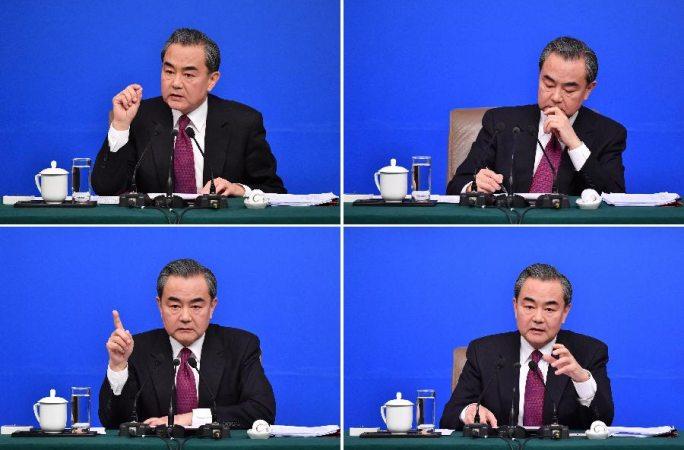 왕이 中 외교부장, '중국의 외교정책과 대외관계' 문제와 관련해 기자질문에 대답