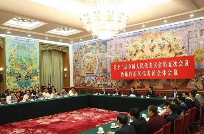 시짱 대표단 전체회의 언론에 개방