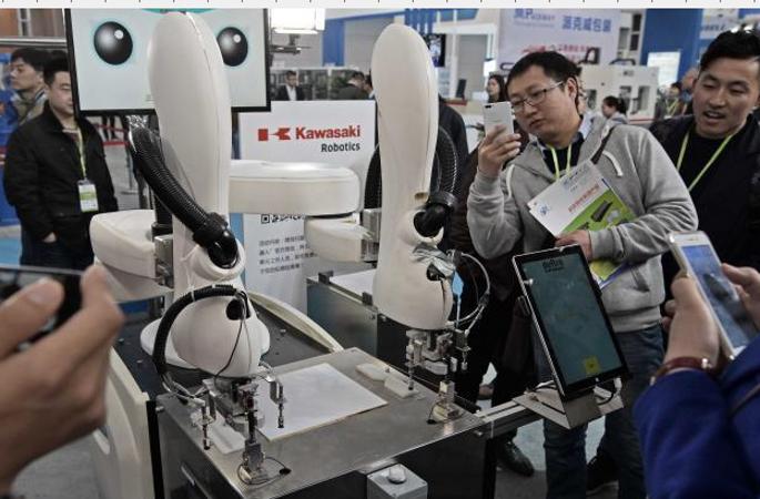 中 가장 큰 로봇전시회 톈진서 개최